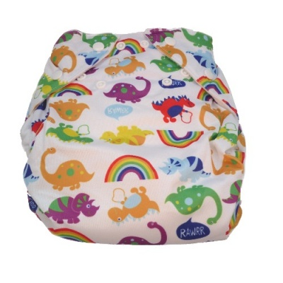 Real Easy Sized Nappy - Dinosaurs (4lbs - 12lbs)